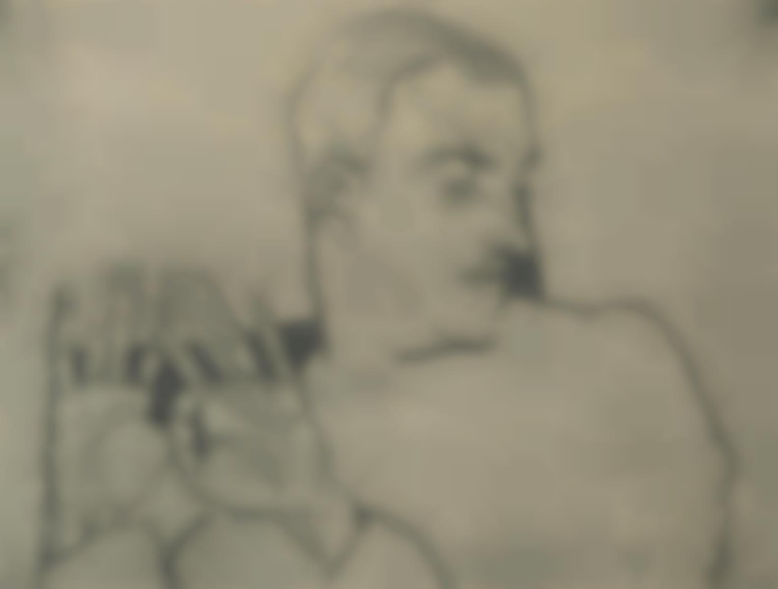 Egon Schiele-Bildnis Arthur Roessler (K. 8B), 1914-1914