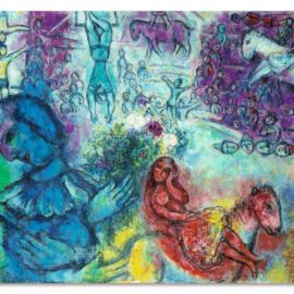 Marc Chagall-Le Cirque Mauve-1966