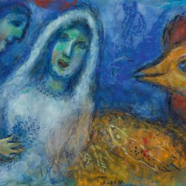 Marc Chagall-Les Maries Au Coq-1975
