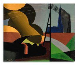 Rene Magritte-La Locomotive-1922