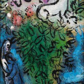 Marc Chagall-Lane Blanc Dans Le Bouquet-1962