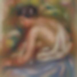 Pierre-Auguste Renoir-Gabrielle, De Profil, Assise