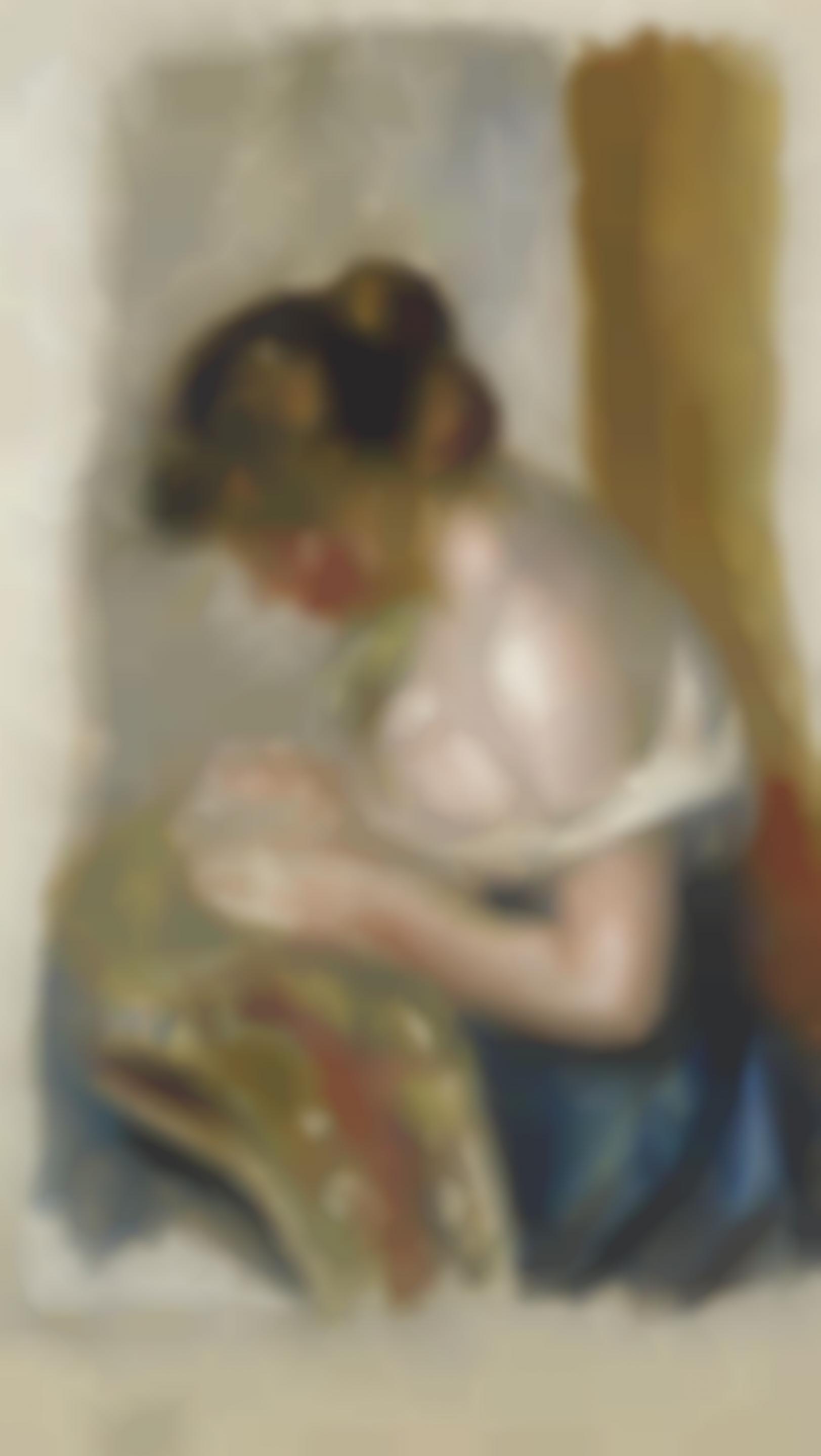 Pierre-Auguste Renoir-La Couseuse-