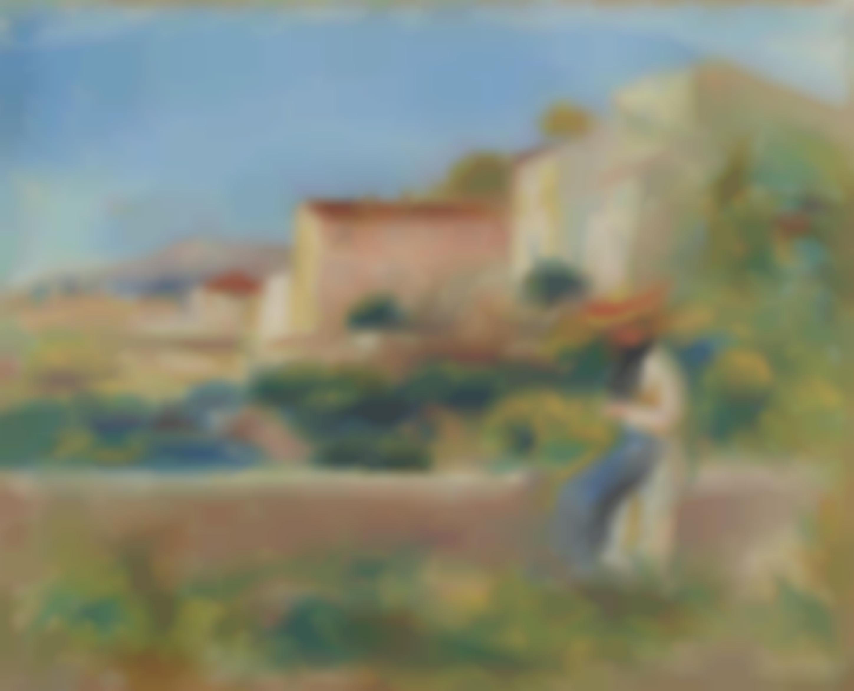 Pierre-Auguste Renoir-Femme Assise, La Maison De La Poste A Cagnes-1900