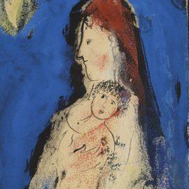 Marc Chagall-Maternite Au Croissant De Lune-1954