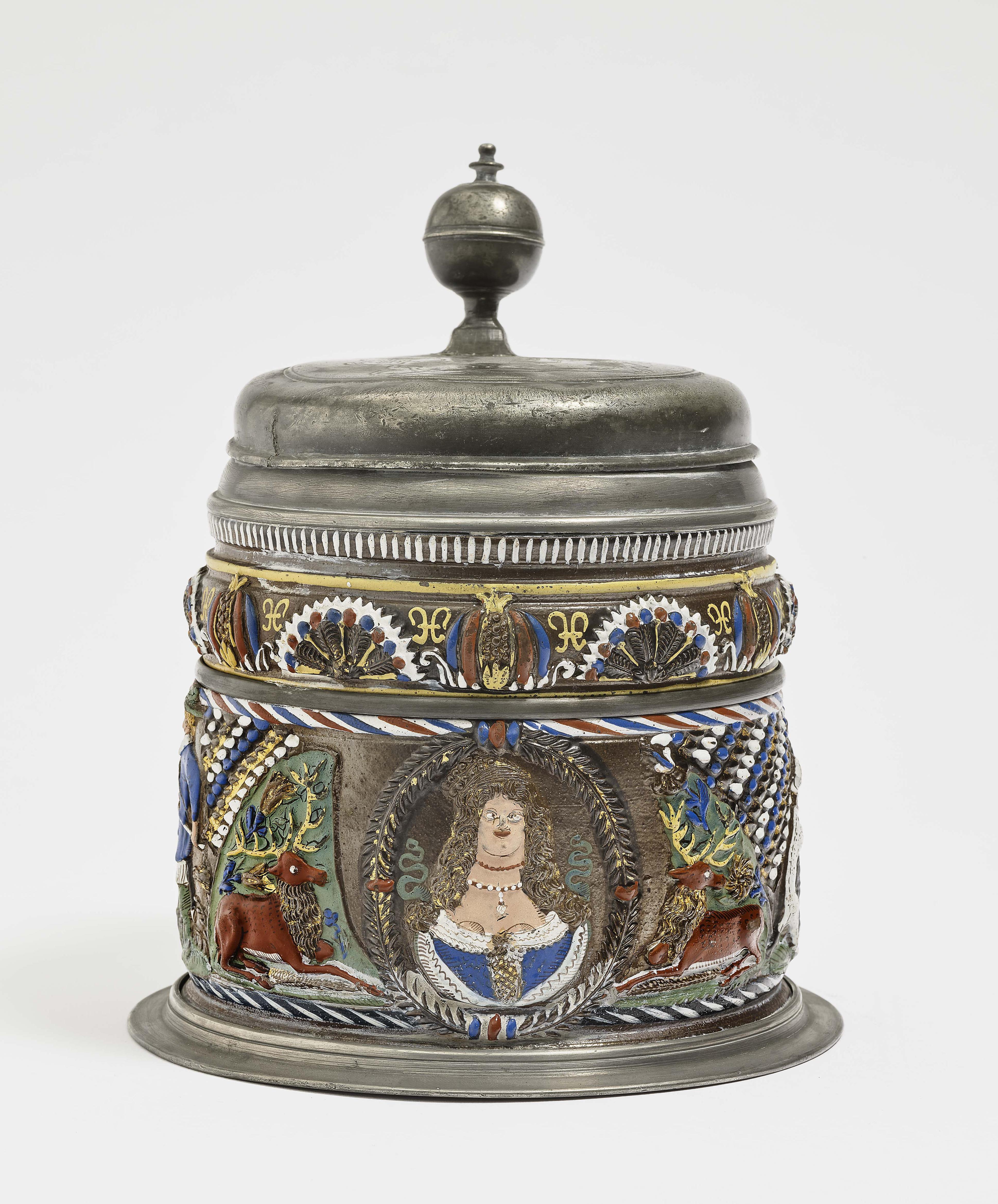 A Stoneware Tankard - Annaberg, circa 1670-