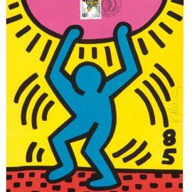 Keith Haring-International Youth Year-1985