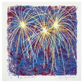 James Rosenquist-Fireworks For President Clinton-1996