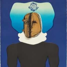 Jose Luis Cuevas-La Mascara (The Mask), Plate 2 From Homage To Quevedo-1969