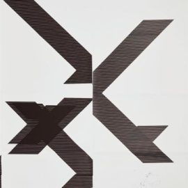 Wade Guyton-X Poster (Untitled, 2007, Epson Ultrachrome Inkjet On Linen, 84 X 69 Inches, Wg1209)-2013
