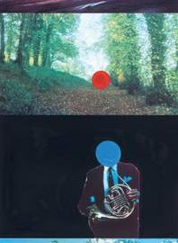 John Baldessari-French Horn Player (With Three Contexts-One Uncoded), From A French Horn Player, A Square Blue Moon, And Other Subjects-1994
