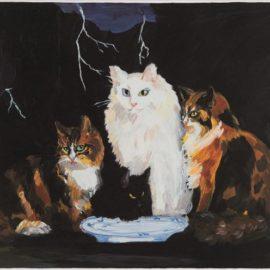Karen Kilimnik-Surf & Turf, Belgian Cats On The Northern Coast Of Belgium-2001