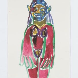 Richard Prince-Untitled (Hippie Drawing), From In The Darkest Hour There May Be Light-2006