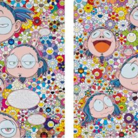 Takashi Murakami-Self-Portrait Of The Manifold Worries Of A Manifoldly Distressed Artist; The Artists Agony And Ecstacy-2012