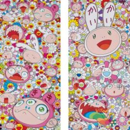 Takashi Murakami-Theres Bound To Be Difficult Times Theres Bound To Be Sad Times But We Wont Lose Heart; Wed Rather Not Cry, So Laugh, We Will!; And Fortune Favors The Merry Home, Kaikai And Kiki-2017