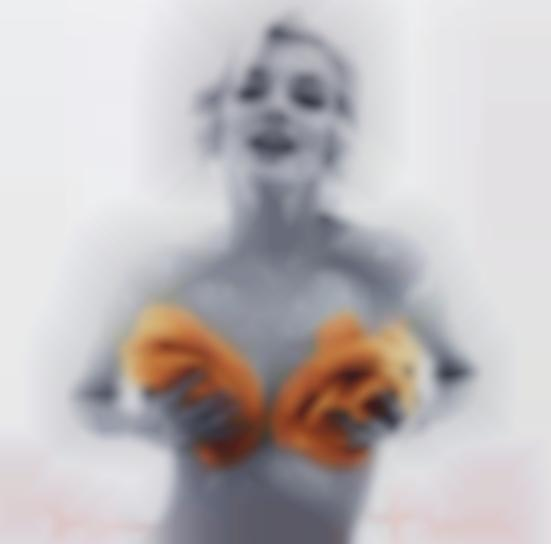 Bert Stern-Marilyn With Apricot Roses From The Last Sitting-1962