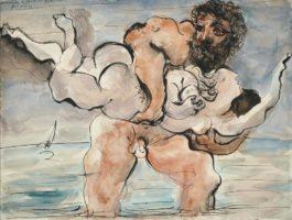 Pablo Picasso-Homme Enlevant Une Femme-1933