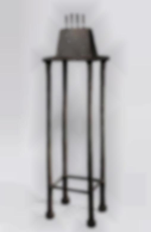 Alberto Giacometti-Quatre Figurines Sur Piedestal (Figurines De Londres, Version A)-1950