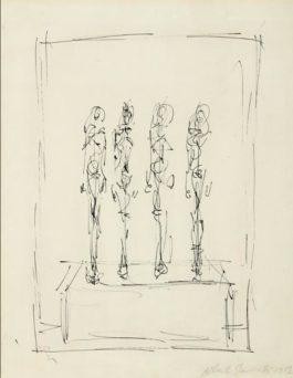 Alberto Giacometti-Rue De Lechaude (Quatre Figurines Sur Piedestal)-1952