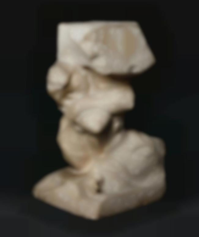 Auguste Rodin-Cariatide Tombee Portant Sa Pierre, Agrandissement Dun Tiers-1894