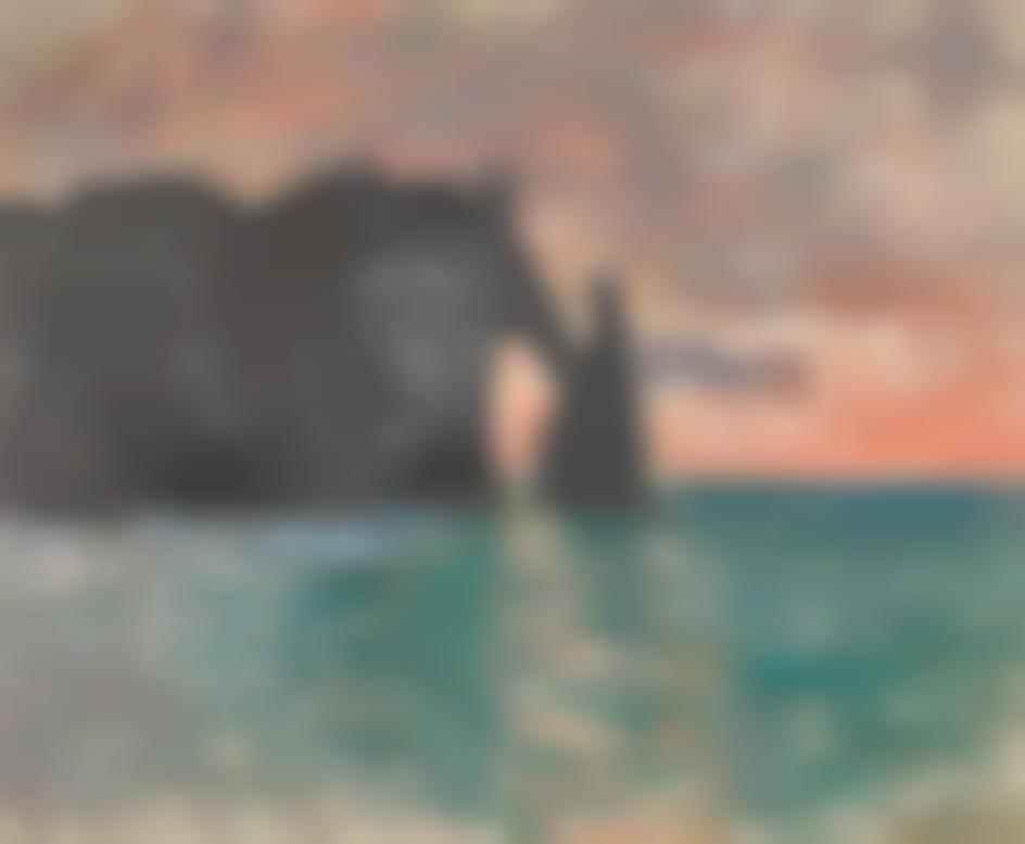 Claude Monet-Etretat, Coucher De Soleil-1883