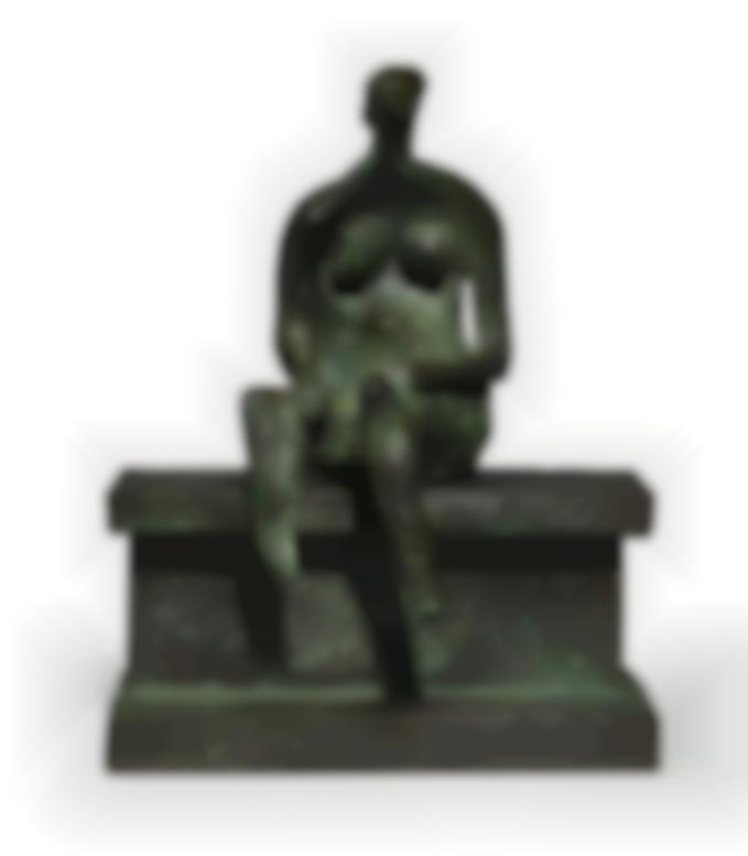 Henry Moore-Seated Figure On A Ledge-1957
