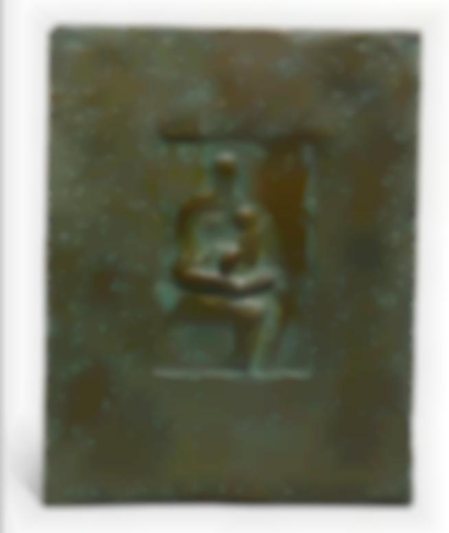 Henry Moore-Relief: Seated Mother And Child-1977