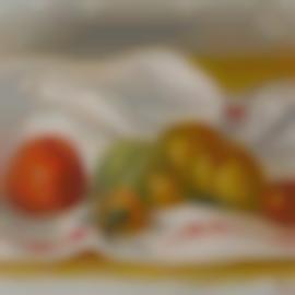 Pierre-Auguste Renoir-Orange Et Fruits Sur Une Nappe Blanche (Nature Morte)-1900