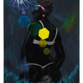 Kerry James Marshall-Small Pin-Up (Lens Flare)-2013
