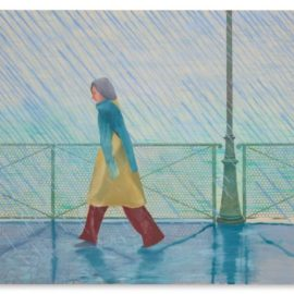 David Hockney-Yves-Marie In The Rain-1973