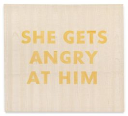 Ed Ruscha-She Gets Angry At Him-1974