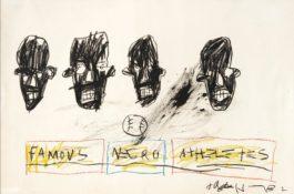 Jean-Michel Basquiat-Famous Negro Athletes-1981