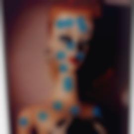 John Baldessari-Kiss Kiss (Blue)-1995