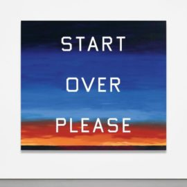 Ed Ruscha-Start Over Please-2015