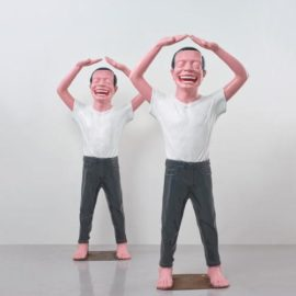 Yue Minjun-Two Works: Contemporary Terracotta Warriors No.5-2003