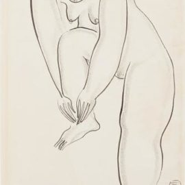 Sanyu-Nu Debout, Jambe Repliee (Standing Nude With Folded Leg)