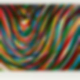 Sol LeWitt-Wavy Horizontal Lines (Diptych) (K. 1996.09)-1996