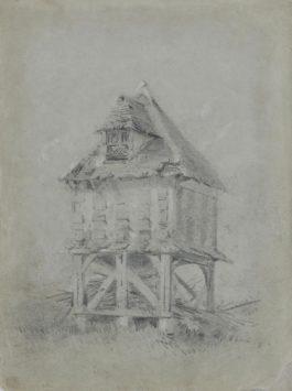 Claude Monet-Ancien Puits De La Ferme De La Hetraie, A La Mare Au Clerc-1857