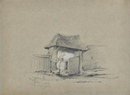 Claude Monet-Portail De Ferme-1857