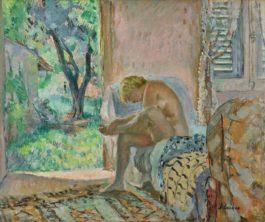 Henri Lebasque-Nu Assis Sur Un Canape Pres De La Fenetre-1935
