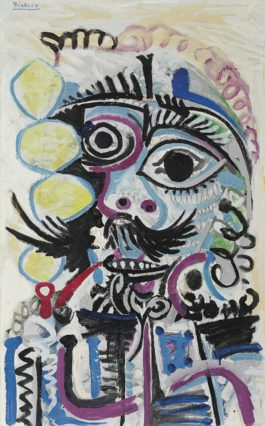 Pablo Picasso-Buste Dhomme-1968