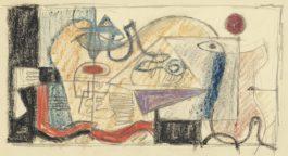 Le Corbusier-Nature Morte Horizontale, Traces Geometriques, Motif Des Quatre Poissons