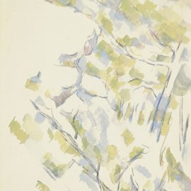Paul Cezanne-Profil De Rocher Pres Des Grottes Au-Dessus De Chateau Noir-1900