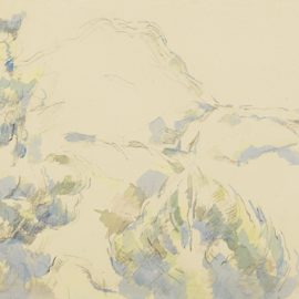 Paul Cezanne-La Montagne Sainte-Victoire-1900