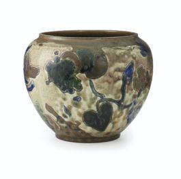 Paul Gauguin-Vase Decore Avec Feuillage, Raisins Et Animaux