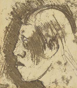 Paul Gauguin-Tete De Fille Des Iles Marquises (Recto And Verso)-1902