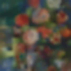 Jean Dufy-Corbeille De Fruits Et Bouquet De Roses-1927