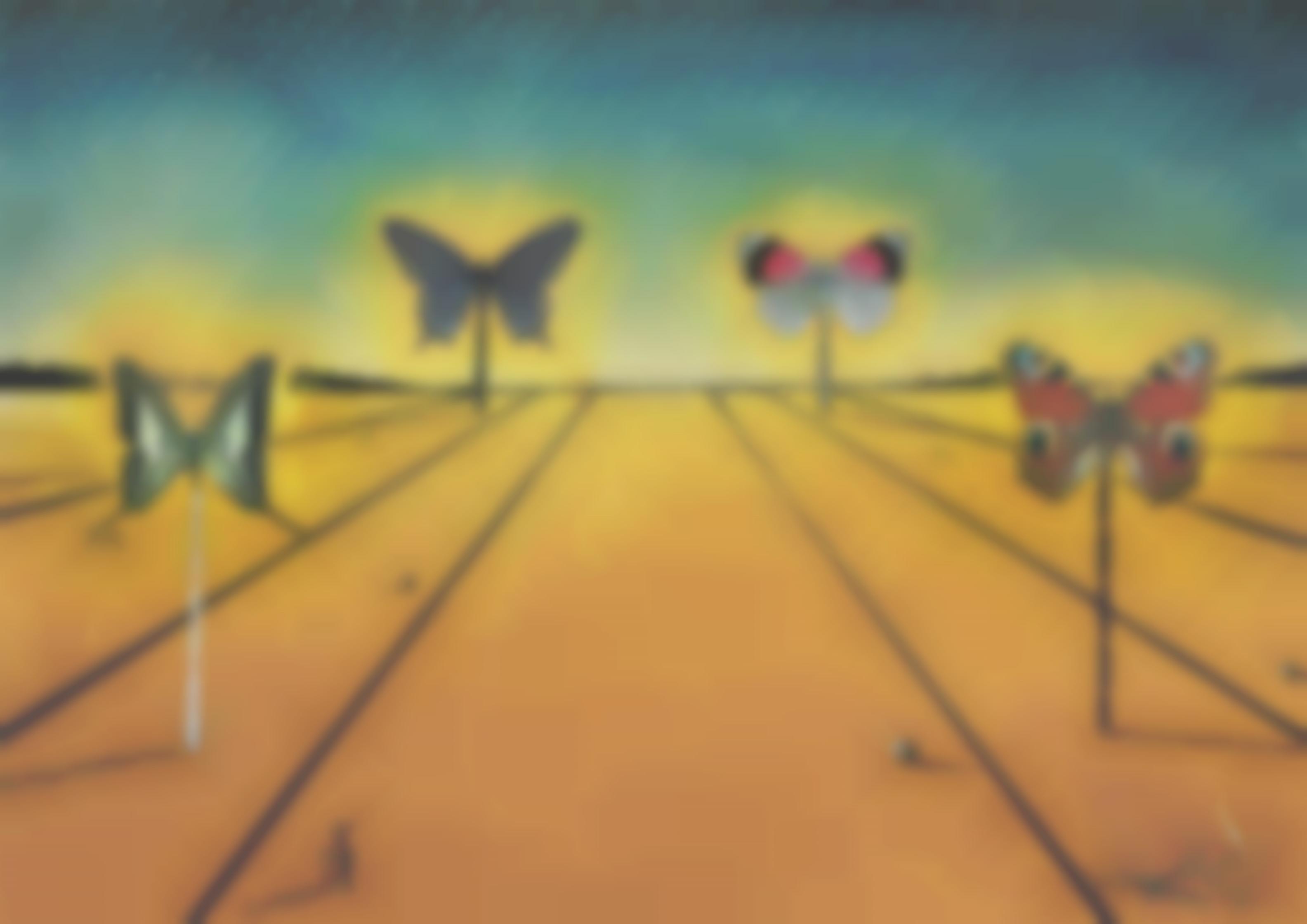 Salvador Dali-Paysage Aux Papillons-1973