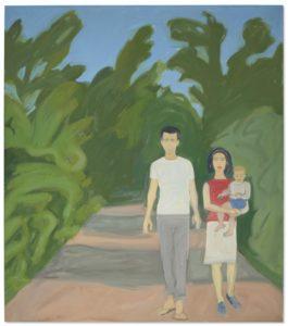 Alex Katz-Alex, Ada And Vincent-1961