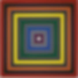 Frank Stella-Gray Scramble IX (Single)-1969